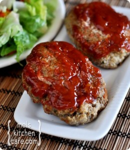 glazed mini meatloaves from melskitchencafecom makes 5 mini meatloaves - Mels Kitchen Cafe