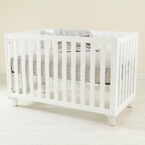 Land of Nod White Crib