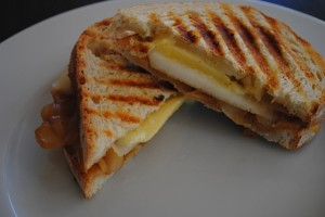 Carmelized Onion Pear Panini