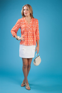 Annie Griffin Top Scalloped Short