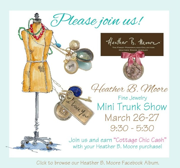 Cottage Chic Heather Moore Trunk Show
