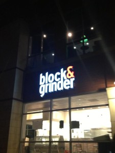 Block & Grinder Outside