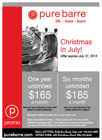 Pure Barre Christmas in July