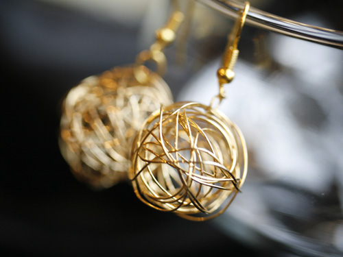 Erin McDermott Gold Nest Earrings