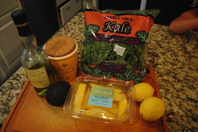 Massaged Kale Salad Ingredients