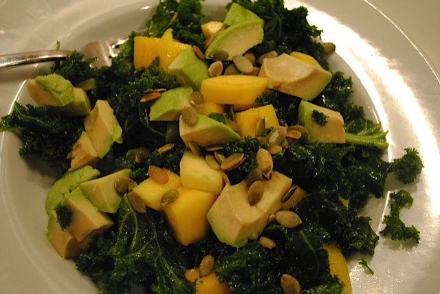 Kale Pumpkin Avocado Salad