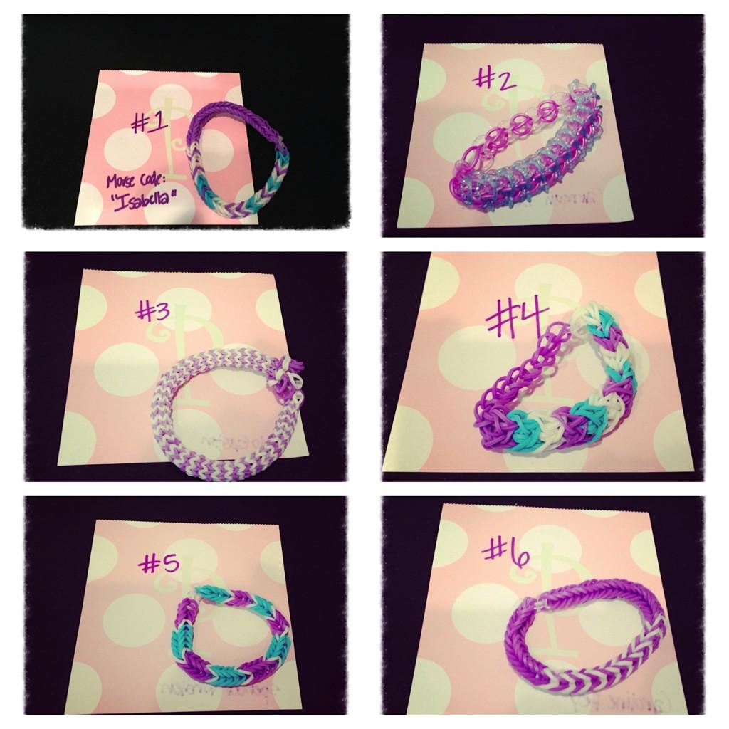 ISF purple rainbow loom