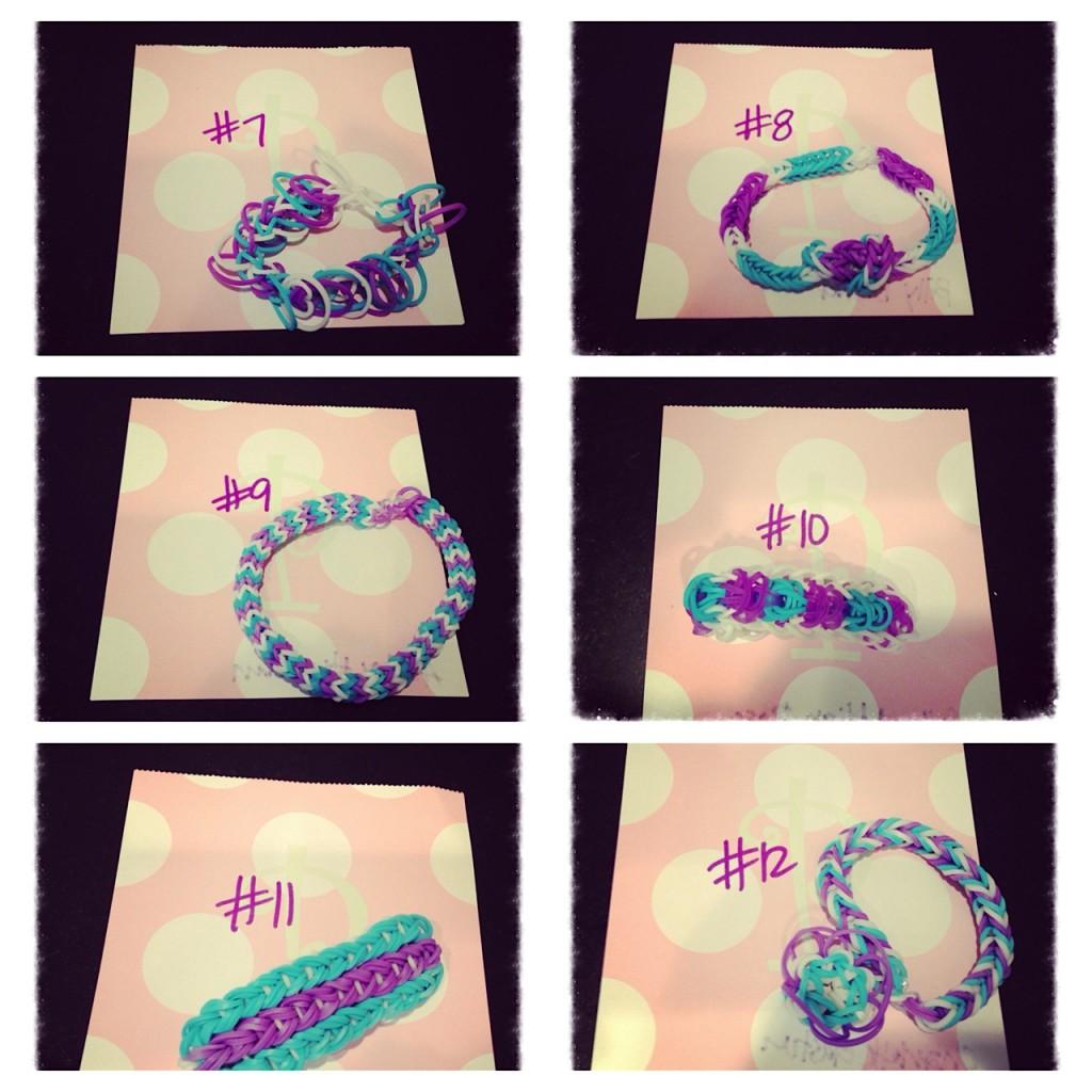 ISF Purple Rainbow Loom bracelets 2