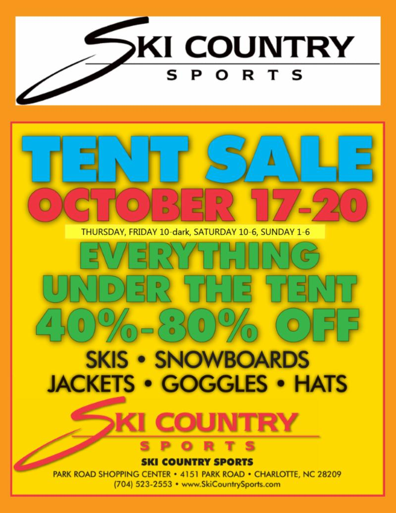 Ski Country Sports Annual Tent Sale