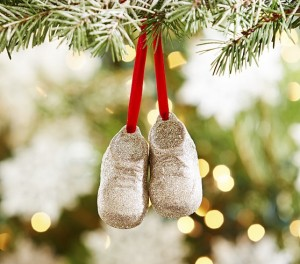 PB Gold Booties Ornament