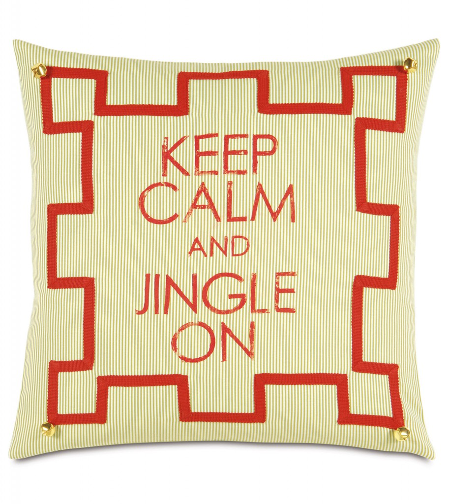 Lila Home Keep Calm Pillow