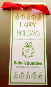 Baby Bundles Holiday Card