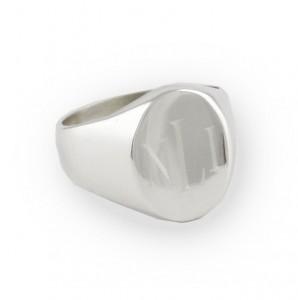Sercie Monogrammed Ring