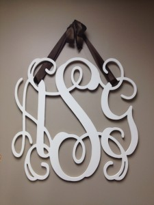 Wooden Wall Monogram
