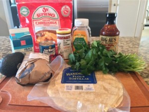 Wendy's BBQ Shrimp Enchiladas Ingredients