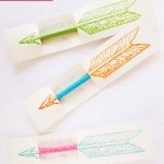 Arrow valentine pencil holder
