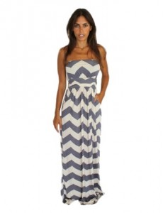 gray chevron dress