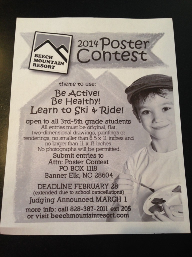 Beech Mountain Poster Contest
