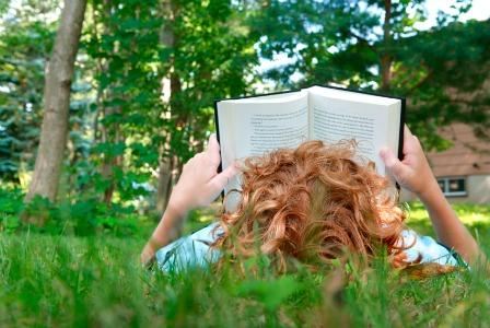 Image result for kids reading outside