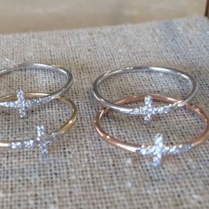 Gold cross rings