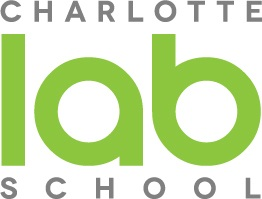 Charlotte Lab School logo - gray and green