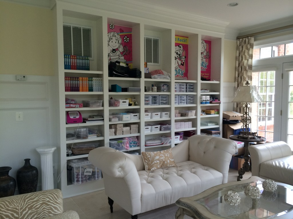 Lauren Nicole Wall of Shelves Midway Through
