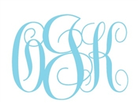 Simply Caddy Monogrammed Decal