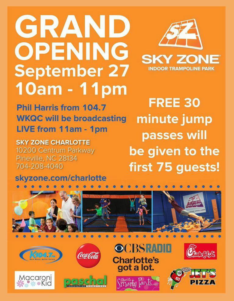 Sky Zone Charlotte Grand Opening
