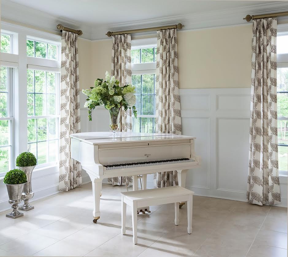 Lauren Nicole Wall of Shelves Piano