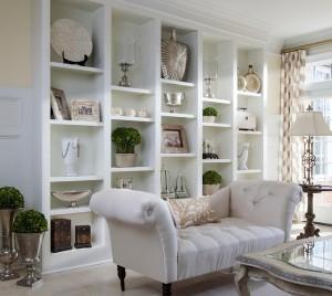 Lauren Nicole Wall of Shelves