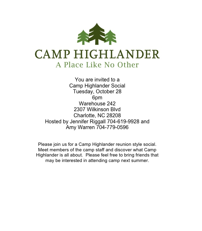 Camp Highlander Invite