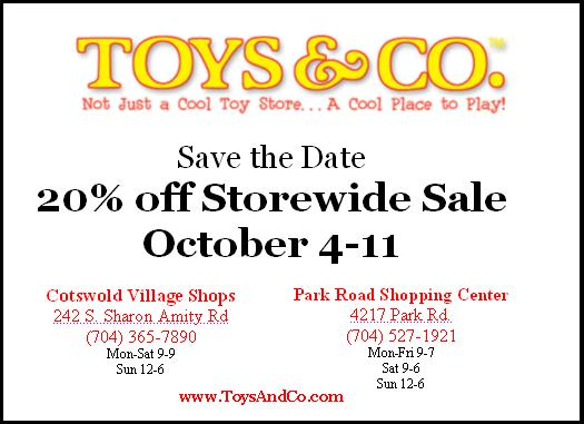 Toys & Co Fall Storewide Sale
