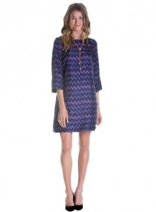 Elizabeth McKay Lindsay Dress Chevron Icat