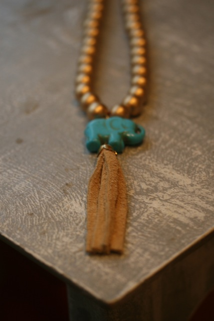 Erin McDermott's Elephant Tassle Necklace