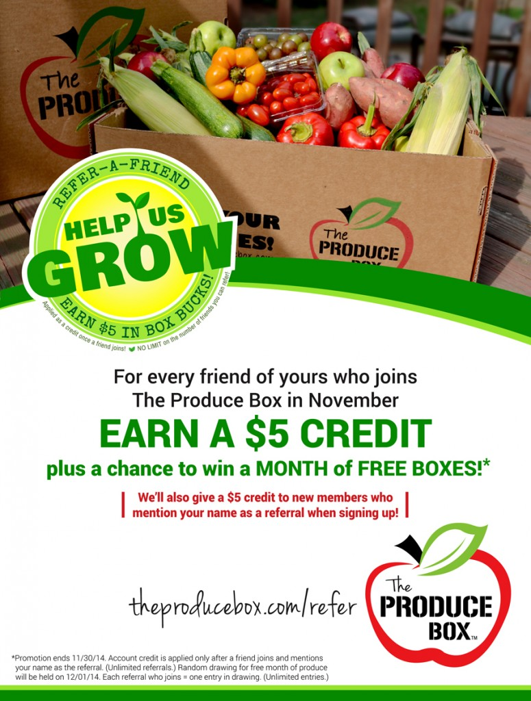 Produce Box Refer a Friend Program CLT