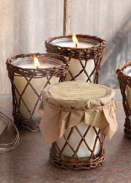 Park Hill Burlap & Barnwood Candle