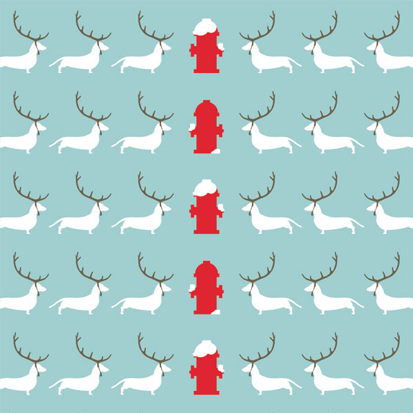 Girls Christmas Wrapping Paper