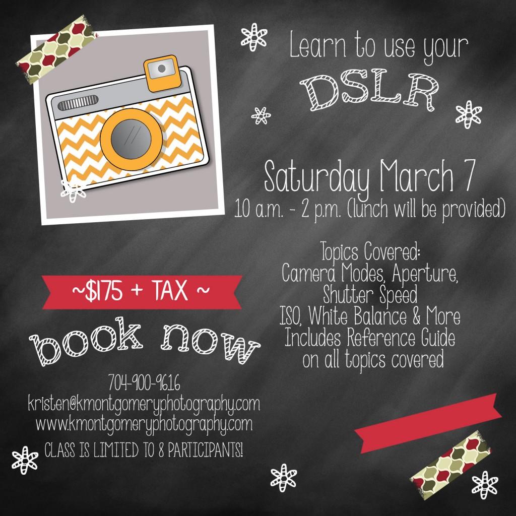 Kristen Montgomery DSLR Class