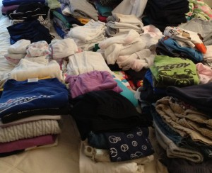 Zack's pile of clothes