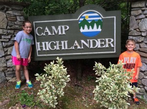 Camp Highlander Sign