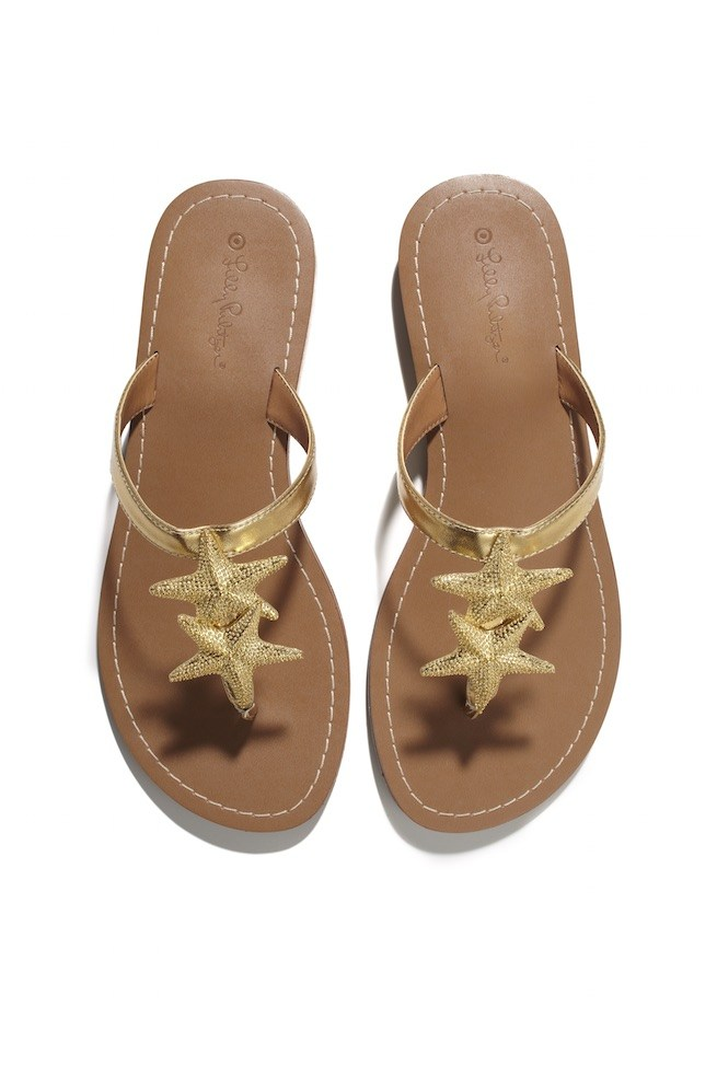 LillyPulitzerforTarget-Starfish-Sandals-Gold