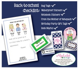 Back to School Stationary and bag tags