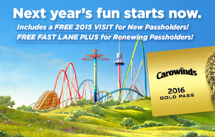 Carowinds Season Pass 2016
