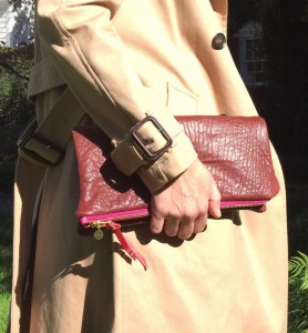 VAHA leather clutch