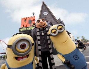 Publicity - Despicable Me Minion Mayhem Entertainment show in front of attraction at Universal Studios Florida USF
