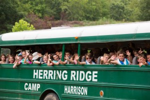 Camp Harrison Green Bus