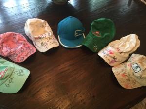 Wells Fargo Championship signed hats