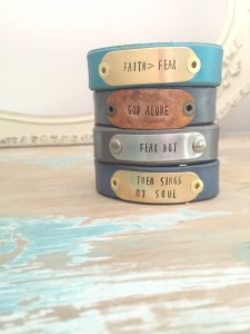 Punch Vintage Style Faith Fear Cuff