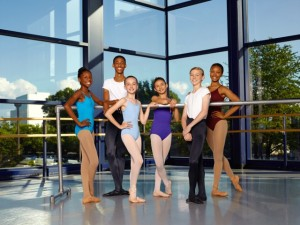 Charlotte Ballet_Academy students_photo by Jeff Cravotta