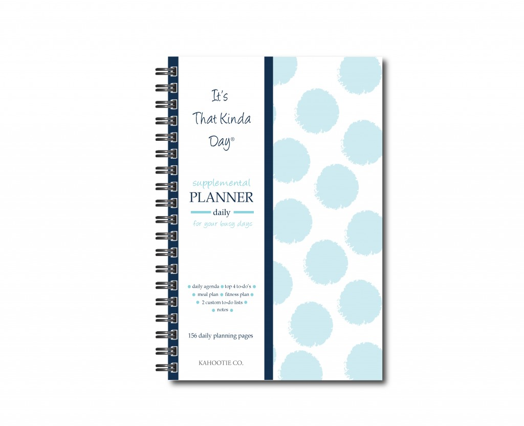accomplish top 4 daily to-dos plus bonus 12 M Calendar double to-do lists on task Kahootie Co Undated Daily Planner for Busy Days- keep focused plan meals and fitness activity in advance